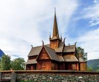 12世纪Lom ` s stavkirke木教会  免版税库存图片