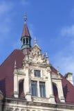 17世纪Moszna城堡在晴天,胳膊,上部西里西亚,波兰 免版税库存图片
