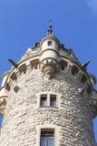 17世纪Moszna城堡,与细节的塔,上部西里西亚,波兰 库存图片