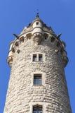 17世纪Moszna城堡,与细节的塔,上部西里西亚,波兰 免版税库存图片