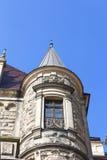 17世纪Moszna城堡,与细节的塔,上部西里西亚,波兰 图库摄影