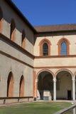 15世纪Sforza城堡Castello Sforzesco,米兰,意大利 免版税库存图片