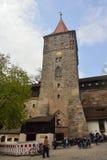 16世纪Tiergartnertor塔在纽伦堡 库存照片