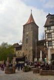 16世纪Tiergartnertor塔在纽伦堡 免版税图库摄影