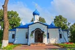 18世纪Vvedenskaya教会在Feodorovsky女修道院在Pereslavl-Zalessky,俄罗斯 免版税库存图片