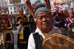 世袭的社会等级gurungs尼泊尔新年度 免版税图库摄影