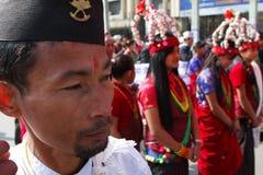 世袭的社会等级gurungs尼泊尔新年度 免版税库存照片