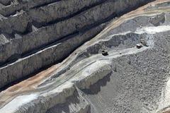丘基卡马塔,世界的最大的露天开采矿铜矿,智利 库存照片