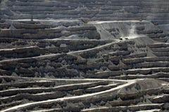 丘基卡马塔,世界的最大的露天开采矿铜矿,智利 库存图片