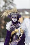 丘比特假装的人-阿讷西威尼斯式狂欢节2013年 免版税库存图片
