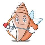 丘比特逗人喜爱的壳字符动画片 免版税库存照片