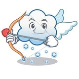 丘比特雪云彩字符动画片 库存照片