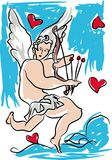 丘比特,情人节 免版税库存照片