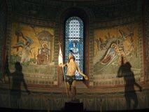 丘西-圣Secondiano罗马式大教堂  免版税库存图片