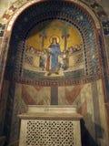 丘西-圣Secondiano罗马式大教堂  免版税图库摄影