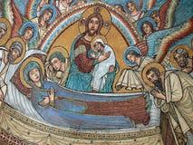 丘西-圣Secondiano罗马式大教堂  库存图片