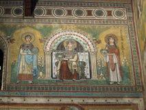 丘西-圣Secondiano罗马式大教堂  免版税库存照片