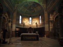 丘西-罗马式大教堂(中央寺院)圣Secondiano 库存照片