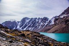 丙氨酸Kol湖-柯尔克孜自然 库存照片