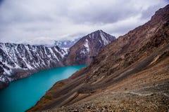 丙氨酸Kol湖-柯尔克孜自然 库存图片