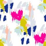 丙烯酸漆刷子冲程无缝的样式 库存图片