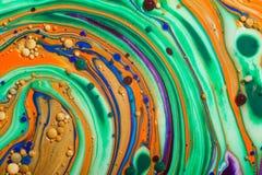 丙烯酸漆抽象背景,图画色的现代艺术  免版税库存图片