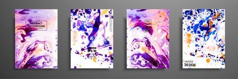 丙烯酸漆混合物  液体大理石纹理 可变的艺术 可适用为设计盖子,介绍,邀请 免版税库存图片