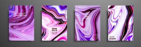 丙烯酸漆混合物  现代艺术品 时髦设计 大理石作用绘 盖子的图表手拉的设计 库存照片