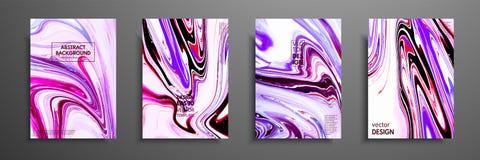 丙烯酸漆混合物  现代艺术品 时髦设计 大理石作用绘 盖子的图表手拉的设计 图库摄影