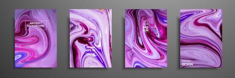 丙烯酸漆混合物  现代艺术品 时髦设计 大理石作用绘 盖子的图表手拉的设计 免版税库存照片