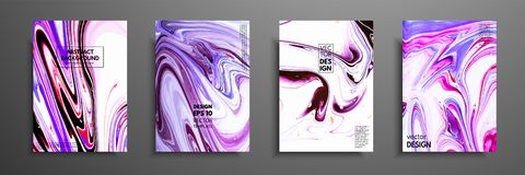 丙烯酸漆混合物  现代艺术品 时髦设计 大理石作用绘 盖子的图表手拉的设计 免版税库存图片