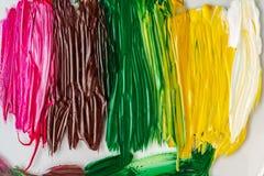 丙烯酸漆 抽象背景 多彩多姿的油漆纹理  免版税图库摄影