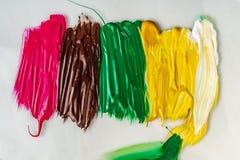 丙烯酸漆 抽象背景 多彩多姿的油漆纹理  免版税库存照片