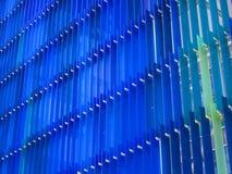 丙烯酸酯的塑料板料内部两定调子蓝色和深蓝 免版税图库摄影
