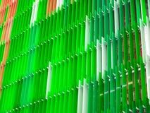 丙烯酸酯的塑料板料内部五级一些白色和颜色 免版税图库摄影