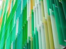 丙烯酸酯的塑料板料内部倾斜线和颜色苹果水色m 库存图片