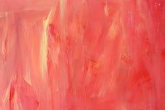 丙烯酸酯的红色橙黄色木纹理 库存照片