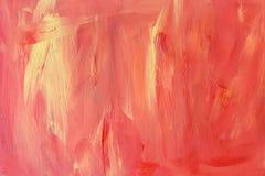 丙烯酸酯的红色橙黄色木纹理 免版税库存照片