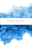 丙烯酸酯的颜色和墨水在水中 抽象背景框架 库存照片
