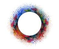 丙烯酸酯的颜色和墨水在水中 抽象背景 库存例证