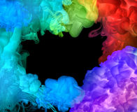 丙烯酸酯的颜色在水中。抽象背景。 图库摄影