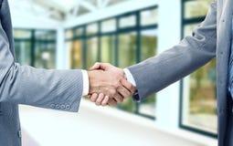 业务伙伴信号交换照片  免版税库存照片