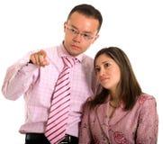 业务伙伴指向 免版税库存照片