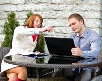 业务会议合作伙伴 免版税库存照片