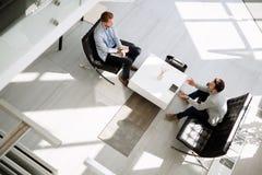 业务会议在大厅 免版税库存照片