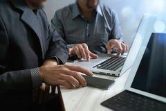 业务会议小组 工作新的s的照片职业投资者 免版税库存照片