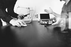 业务会议小组 职业投资者工作新开始  免版税库存图片