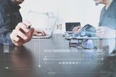 业务会议小组 职业投资者工作新开始  图库摄影