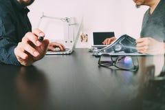 业务会议小组 职业投资者工作新开始  免版税库存照片