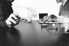 业务会议小组 职业投资者工作新开始  库存图片
